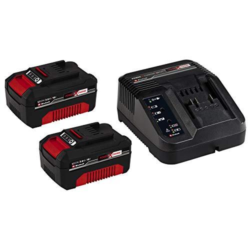 Originale Einhell 2X 3,0 Ah Power X-Change Starter Kit (Ioni di Litio, 18 V, Max. Sicurezza, Prestazioni Ottimali del Dispositivo, Brevi Tempi di Caricamento Grazie Alla Tecnologia di Ricarica Rapida)
