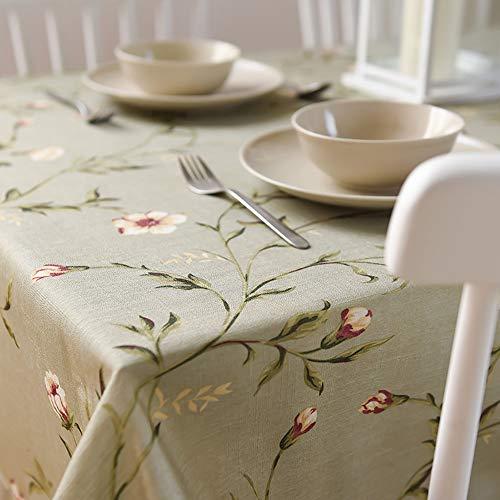 Flashing katoen en lino tafelkleed, dikke stof, klein, fris, tafelkleed, in landelijke stijl