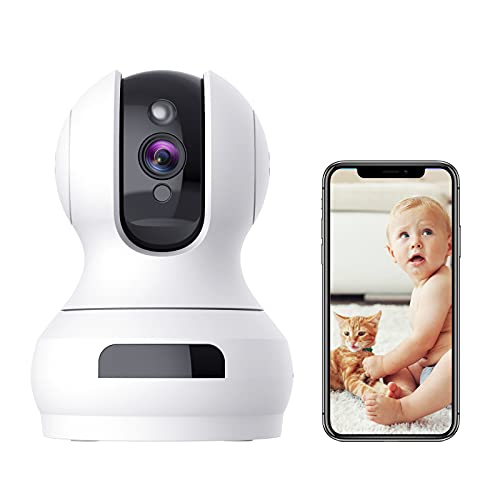 Indoor Camera,1080P Pan/Tilt Baby Monitor with Camera and Audio,Pet...