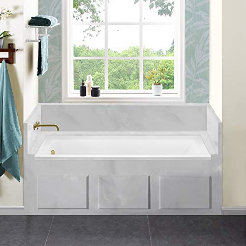 Swiss Madison Well Made Forever SM-DB559 Voltaire Alcove Bathtub, 60' x 30', Glossy White