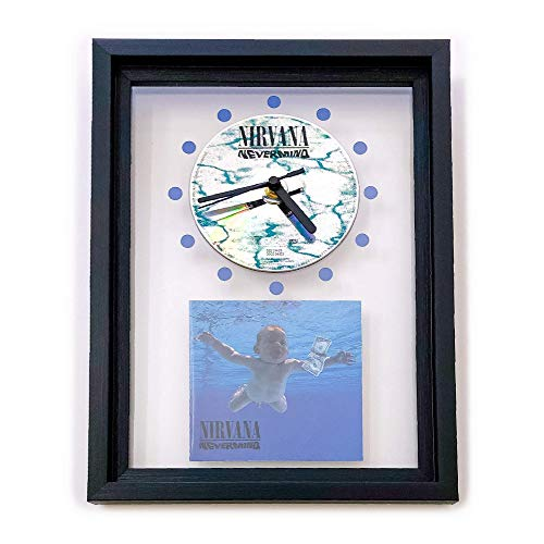 NIRVANA - Nevermind: GERAHMTE CD-WANDUHR/Exklusives Design