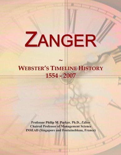 Zanger: Webster's Timeline History, 1554 - 2007