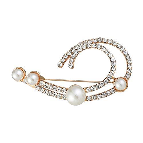 Ruankenshop Broches de Bisutería Broches para Vestidos Broche de Diamantes de imitación Broches para Mujeres Vintage De aleación de Broche Broche Vintage