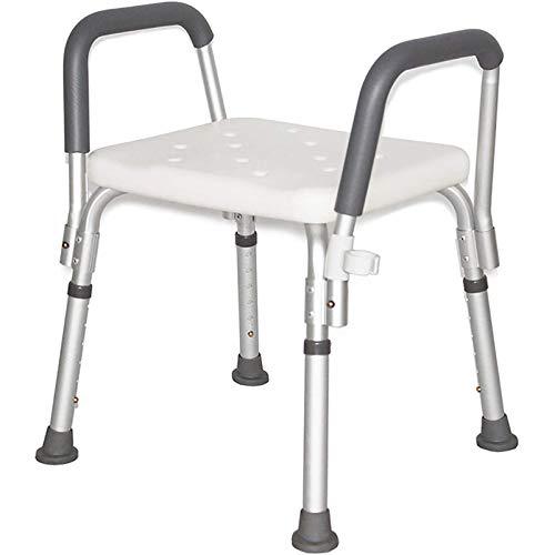 RGHS Elderly Bath Shower Chair, 6 Positionen Verstellbarer Duschhocker, Badewanne Rutschfester Stuhlsitz Für Senioren, Behinderte, Schwangere