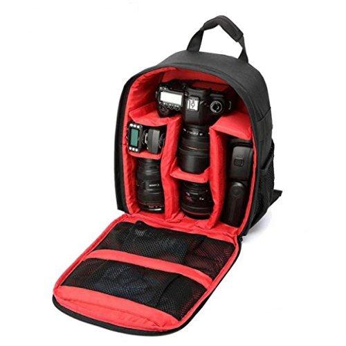 Lacaca-Borsa impermeabile per fotocamera DSLR Canon Nikon Sony