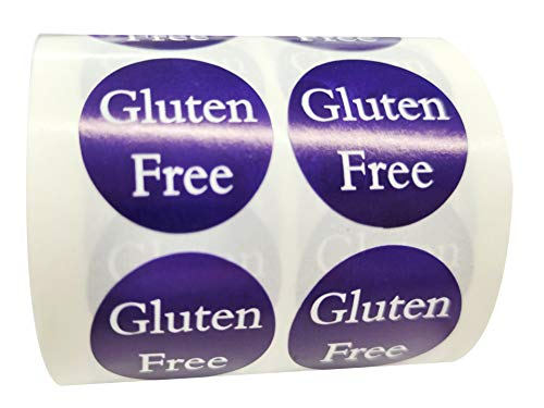 Gluten Free Labels 1 Inch - Food Rotation Labels 500 Adhesive Round Circle Dot Stickers