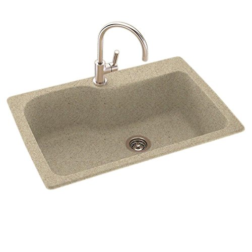 Swanstone KS03322SB.122 Solid Surface 1-Hole Drop in...