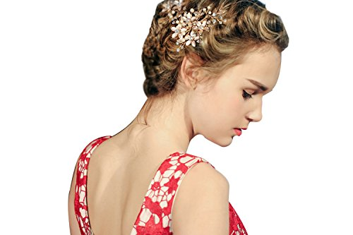 Jaetech House Bruidskapsel, haarspeld bloemen, strass, parels, party, tiara