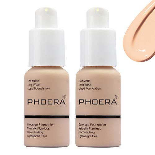 Matte Oil Control Concealer Foundation Cream,Long Lasting Waterproof Matte Liquid Phoera Foundation,102 Nude -30ml