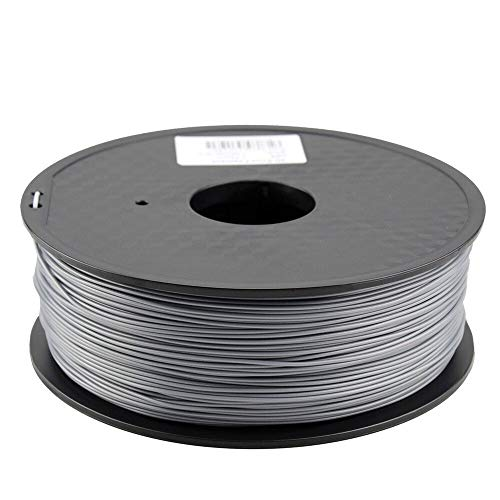 W-Shufang,3D Zonestar Shipping From Russia 3D printer filament PLA 1.75mm plastic Consumables Material 28 Colors 1KG/Roll (Color : Silver)