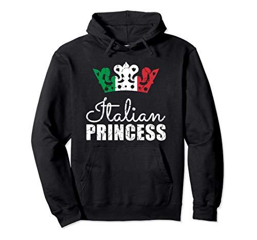 Italian Princess Italy Flag Proud Heritage Felpa con Cappuccio