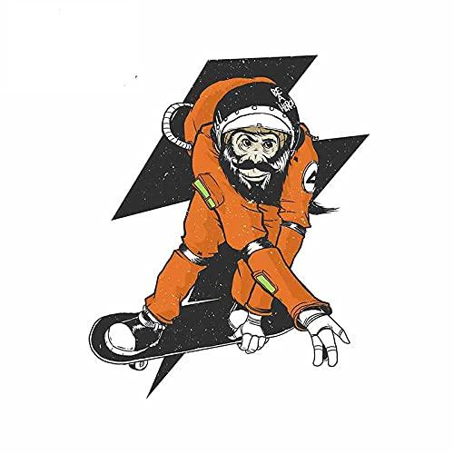 A/X 13 cm 10,4 cm para monopatín astronautas Pegatina para Coche Motocicleta portátil Tabla de Surf decoración Parabrisas Ventanas