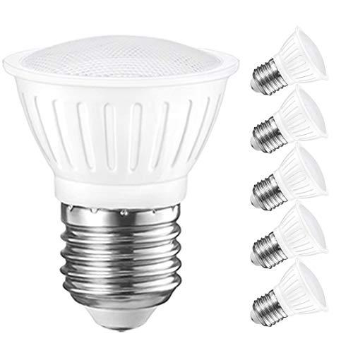 PAR16 Led Spot Lights Indoor Outdoor E26 Dimmable Lightbulbs 3W, Replace 25W Halogen Bulbs, 3000K Soft White 300 Lumens, 6 Pack