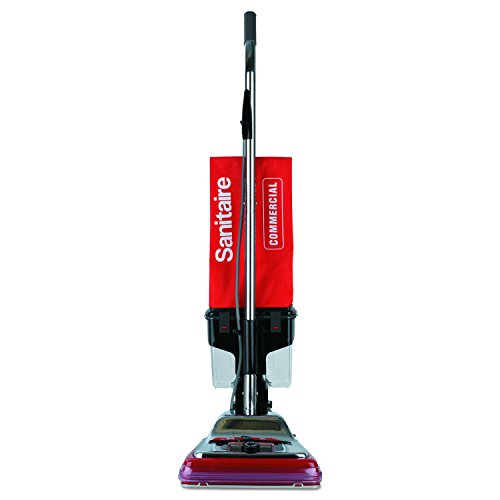 Best Price Sanitaire SC887D TRADITION Upright Vacuum with Dust Cup, 7 Amp, 12 Path, Red/Steel