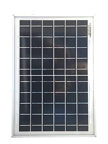 10 Watt Solarpanel 6 Volt - Solar Modul mit 3m Solarkabel und USB Hub mit 4 USB Ausgängen, ohne Spannungsstabilisator, für alle USB Geräte, die mit 5-6 Volt geladen werden (Solarleuchten, USB Pumpen, Solarradios, klassische Handys etc)