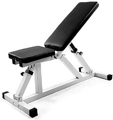 EW&HU Banco de pesas multifuncional Banco de pesas ajustable Banco de entrenamiento multiusos Ab Ejercicios abdominales ajustables Banco de pesas sentado AB inclinado equipo de gimnasio negro