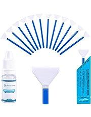 Lens-Aid – Kit de Limpieza con Espátulas y Líquido Limpiador para Sensor de cámara – para Réflex DSLR Full Frame Cuadro Completo, 12x Bastoncillos 24 mm en Microfibra, Embalajes Individuales