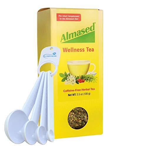 Almased Herbal Wellness Tea, Loose Leaf, Supports Circulation, Digestion, Sleep, Caffeine-Free - 3.5 oz Bundle with a Measuring Spoon