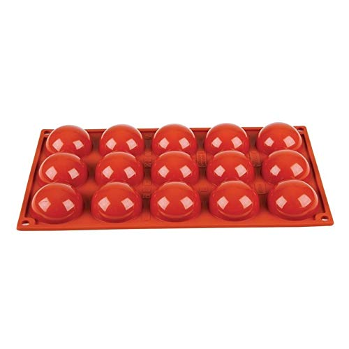 Pavoni N936 Formaflex Silicone Mould, 15 Half Sphere