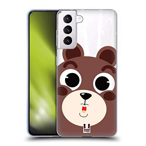 Head Case Designs Bär Süsse Tier Gesichter Soft Gel Handyhülle Hülle Huelle kompatibel mit Samsung Galaxy S21+ 5G