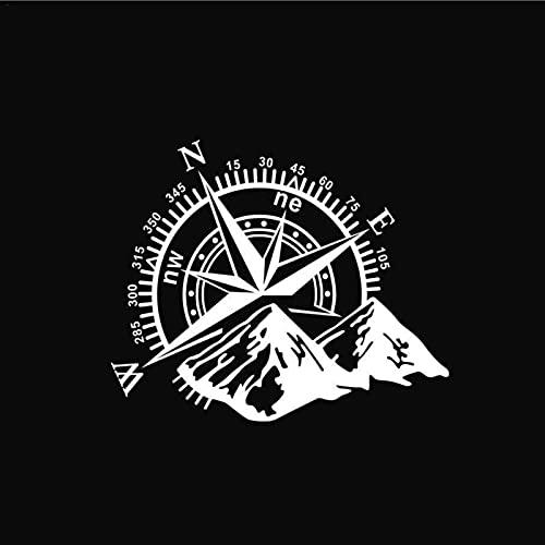 daiyanjing 1 Uds 48 × 34cm Brújula De Montaña Navegación Pegatina para Coche Pegatinas Divertidas Brújula Pegatina para Puerta De Coche, para Cubierta De Montaña, Capucha, Calcomanía Corporal