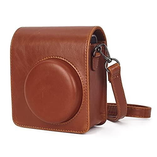 Leebotree - Custodia protettiva per fotocamera istantanea compatibile con fotocamera Instax Mini 40, in morbida pelle PU, con tasca e tracolla rimovibile, colore: marrone