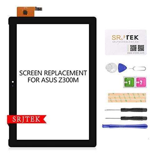 SRJTEK per Asus ZenPad 10 Z300M P00C Touch Screen Digitizer Vetro di ricambio, NO LCD (nero)