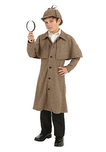 Kid's Sherlock Holmes Costume Detective Outfit Medium