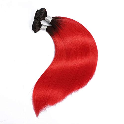 Natürliche Haarteile Roter doppelter Schuss 10-26 Zoll-Menschenhaar 1 Bündel gerade...