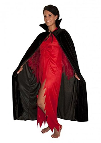 Long Black Halloween Cape by Pams