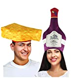 Tigerdoe Couples Costumes - Wine & Cheese Couples Hat – Food Hats – Funny...