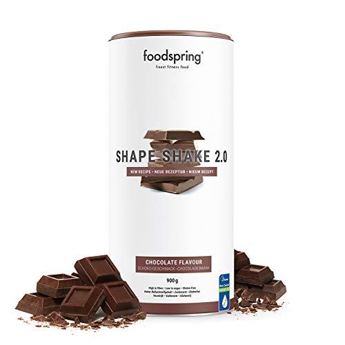 foodspring Shape Shake 2.0, Chocolate, 900 g, Sustitutivo de comidas para controlar el peso, Alto en proteínas y fibras