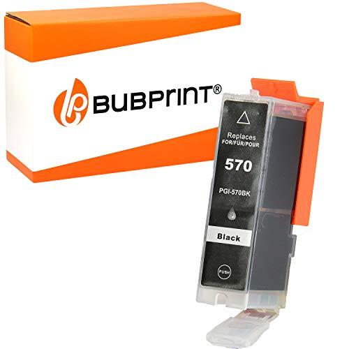 Bubprint Druckerpatrone kompatibel für Canon PGI-570XL PGBK PGI 570XL für Pixma MG5750 MG5751 MG7750 TS5050 TS5051 TS6050 TS8050 TS8051 TS9050 Schwarz
