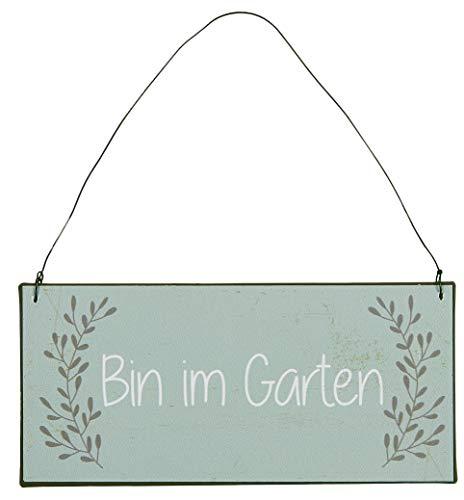 IB Laursen - Metallschild mit Spruch - Bin im Garten