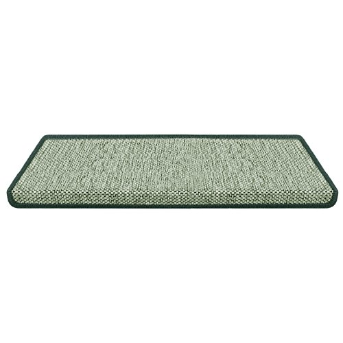 Stufenmatte Sabang | grün, Sisaloptik | Qualitätsprodukt aus Deutschland | GUT Siegel | kombinierbar mit Läufer | Form und Anzahl wählbar (rechteckig, 1 Stück)