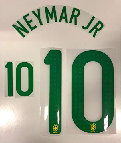 Flock Original Brasilien Trikot 25cm - Neymar JR 10