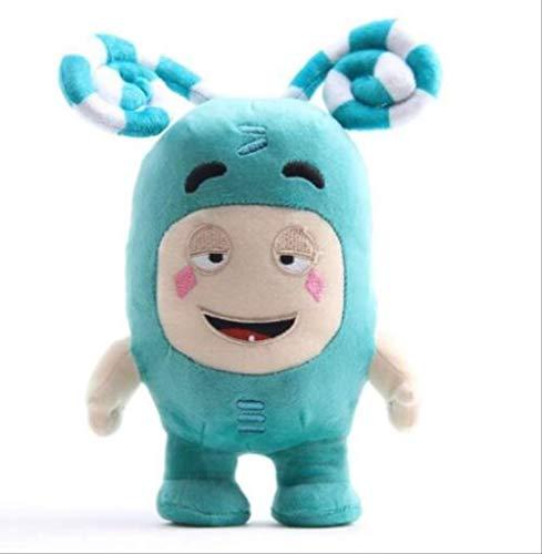 n\a Oddbods Cartoon Sicherung Jeff Newt Odd Zee Bods Kuscheltiere Plüschtiere Puppenspielzeug Kinder Brithday 18cm