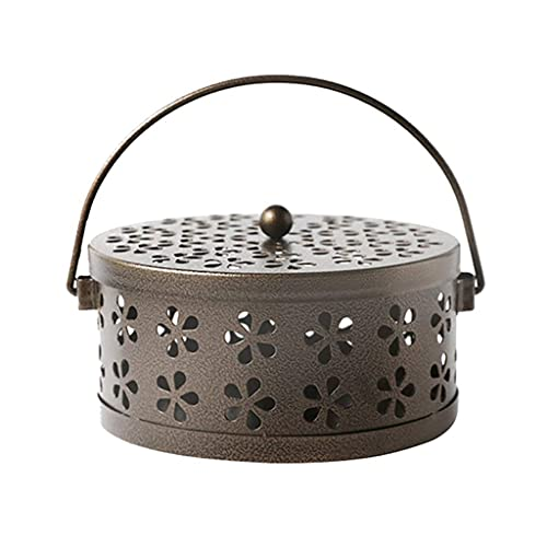 ZXCHB Metal Incense Burner Holder For Home and Camping Garden Mosquito Coil Holder Retro Mosquito Incense Burner (Color : Bronze)