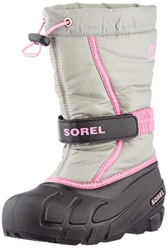 Sorel Unisex-Kinder Youth Flurry Schneestiefel, Grau (Chrome Grey), 35 EU
