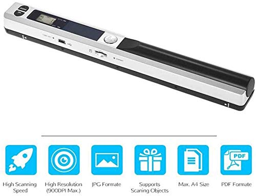 Review ASSAUU_ Scanner Portable Handheld Document Kit, Mini Pen Copier,Document and Image A4 8.27 In...