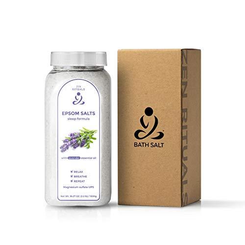 Zen Rituals Epsom Bath Salt Fórmula para dormir con lavanda - 1 KG. UPS au sulfato de magnesio pur.