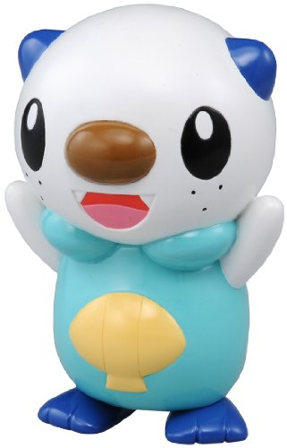 Pokemon: Best Wishes (Schwarz + Weiß) Pocket Monsters Figur: Ottaro / Oshawott / Mijumaru (mit Sound) 10 cm