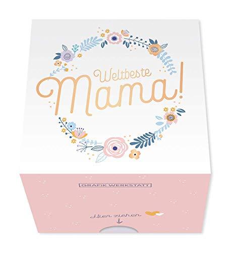 Grafik Werkstatt Message in a Box für Mama | Geschenkidee | 30 Kärtchen zum abreissen | Weltbeste Mama