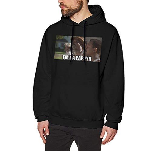 Tengyuntong Herren Kapuzenpullover, Hooded Sweat, Mens I'm Da Pappy Bernie Mac Fashion Sweatshirtst Hooded Sweatshirt Black