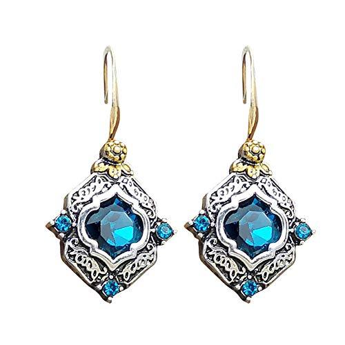 Pendientes de gota de cristal con diseño de flor para mujer, joyería de boda