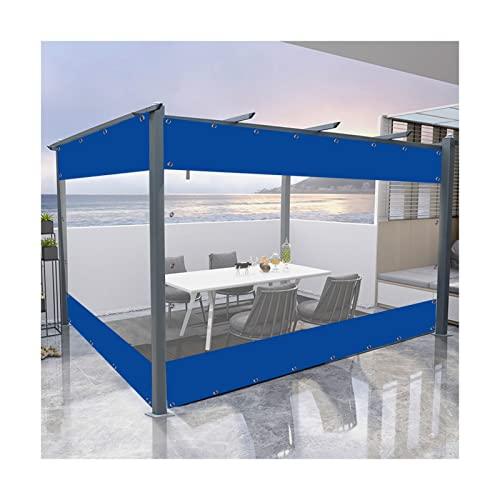 Telone Trasparente, Addensare All'aperto Balcone Tenda, Portatile Campeggio Tenda Insieme A Metallo Occhielli for Box Auto Gazebo, Formato Personalizzato PENGFEI (Colore : Blu, Taglia : 4X5M)