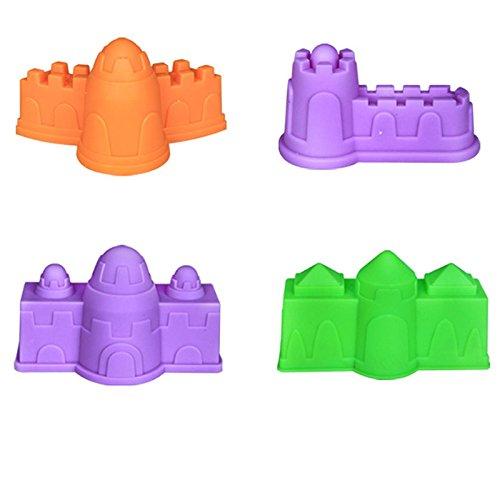 Zhhlinyuan Larga vida 4pcs Beach Sand Kid Toys Castle Seaside Beach Sand Clay Mold Toys DIY Toys
