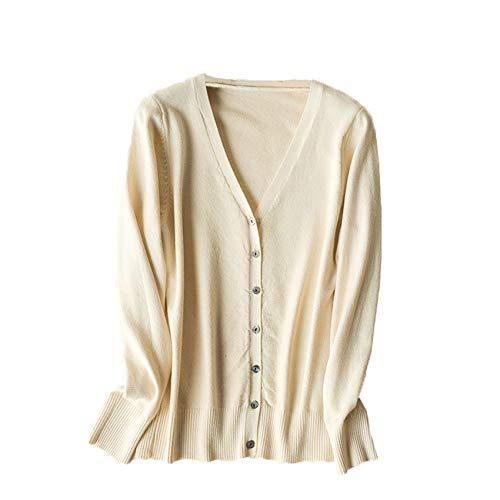 Chenlao7gou621 V-Ausschnitt Sweater Coat Langarm Cardigan Sweater