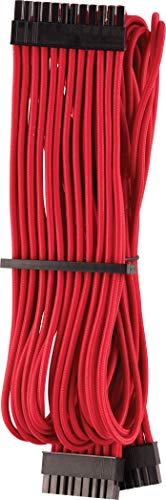 Corsair Premium Sleeved 24 pin-Polig-ATX-Kabel Typ4 (Generation 4-Serie) Rot
