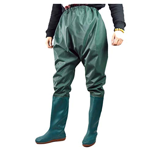 GNNZFL Fishing Clothes Hunting Wading Pants Waterproof Suit Breathable Chest Waders Green XXL